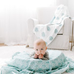 Aden + Anais Dream Blanket Paisley Teal