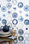 Studio Ditte Behang Porcelein Blauw