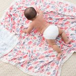 Aden + Anais Dream Blanket Watercolor Garden Roses Silky Soft