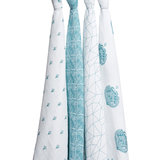 Aden Anaïs Paisley Teal 4-Pack