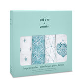Aden + Anais Swaddle 4-pack Paisley Teal_