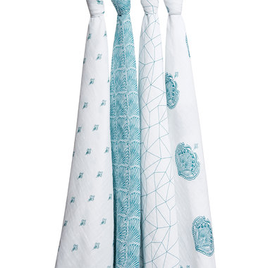 Aden + Anais Swaddle 4-pack Paisley Teal