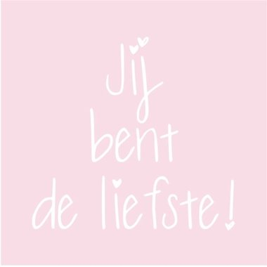 Fabs World Canvasdoek - Jij bent de lieftste - Roze