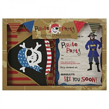 Meri Meri Pirate Invites & Thank