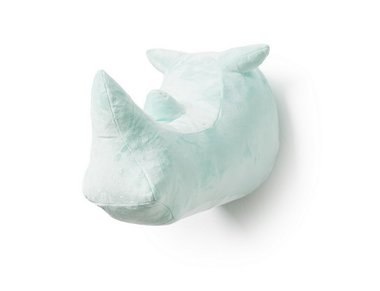 Wild & Soft Dierenkop Abstract Neushoorn Mint
