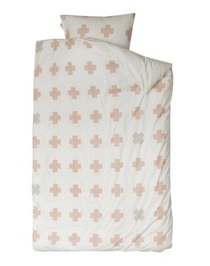Bibelotte Cross Pastel Pink Junior dekbedovertek