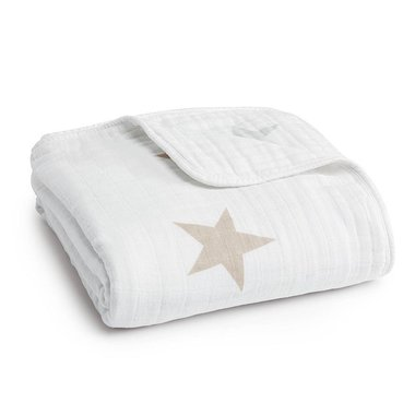 Aden + Anais Dream Blanket Super Star Scout/fawn + Grey Stars