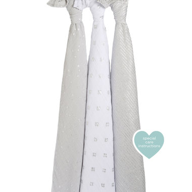 Aden + Anais Swaddle 3-pack Metallic Charm