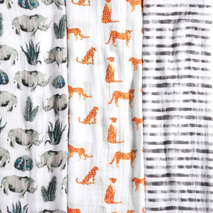 Aden + Anais Swaddle 3-pack Serengeti White Label