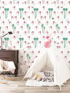 KEK Amsterdam Wallpaper Flamingo